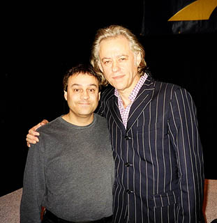 Al Gomes and Bob Geldof