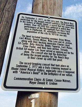 Beach Boys Al Gomes Big Noise Connie Watrous Street Sign